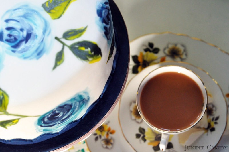 Earl Grey cake in partnership with The Happy Egg Co.