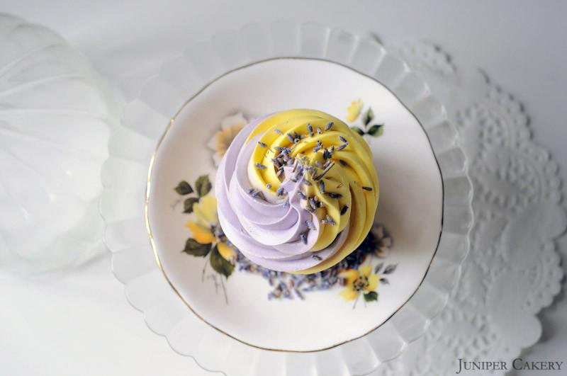 Lemon and Lavender cupcakes by Juniper Cakery