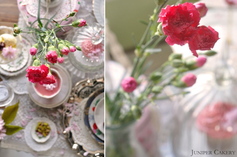 Cherry blossoms, cherry, cola and pistachio