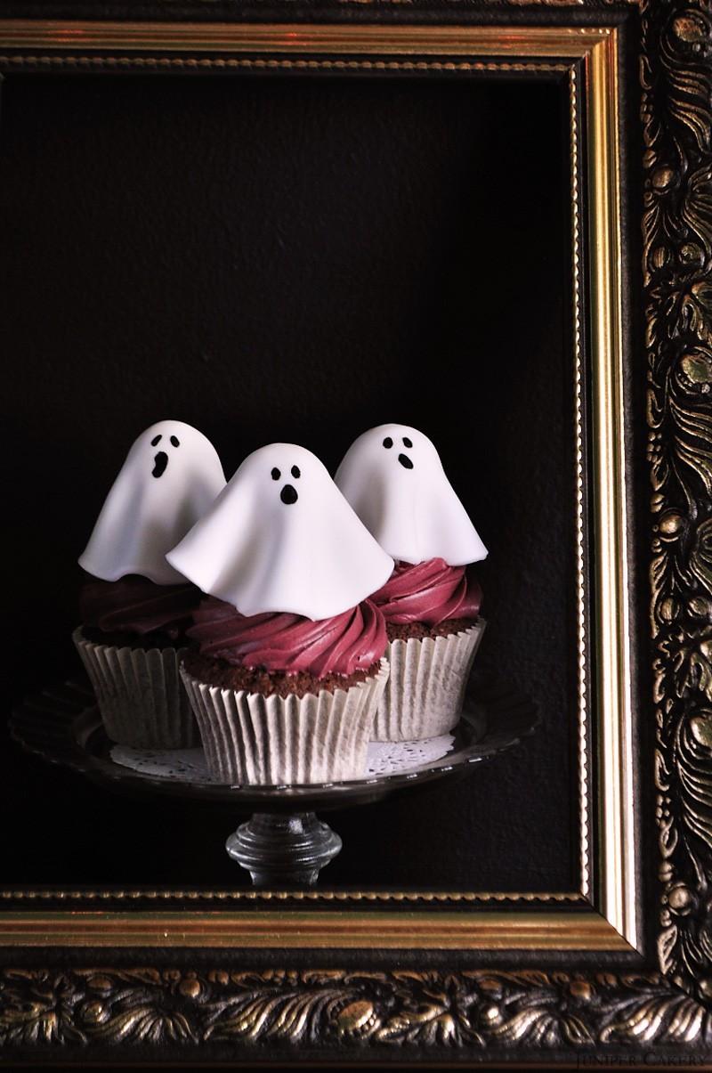 Haunted Black Forest Cupcakes by Juniper Cakery
