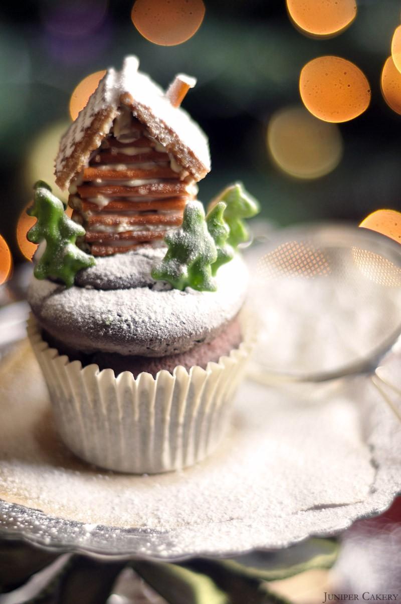 log cabin cupcake tutorial