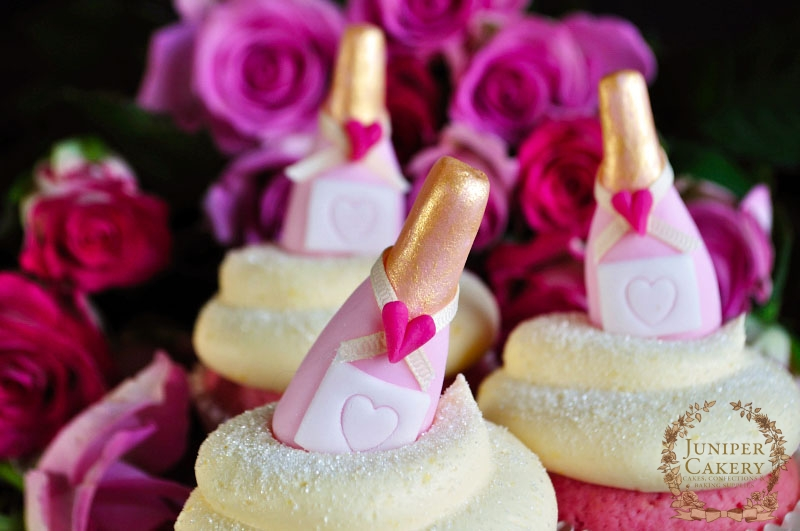 Pink Champagne Cupcakes by Juniper Cakery