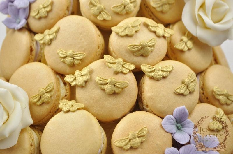 Beehive Macaron Cake by Juniper Cakery