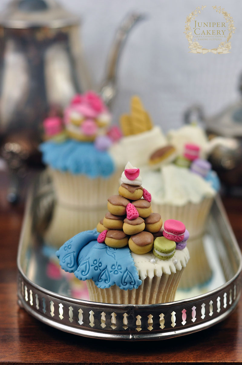 Tutorial for French themed cupcake toppers by Juniper Cakery