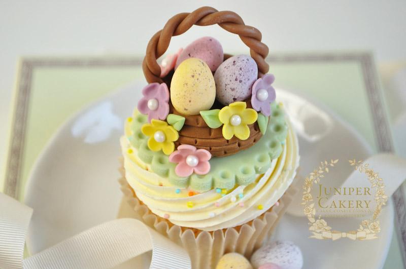 Cute Easter Basket Cupcake by Juniper Cakery