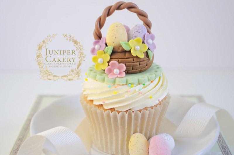 Sweet Easter basket cupcake tutorial by Juniper Cakery
