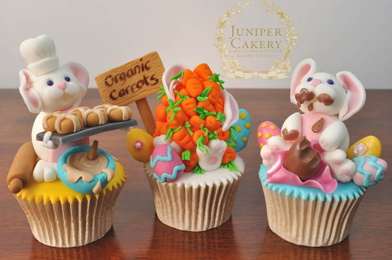 Fun Easter Bunny Cupcakes by Juniper Cakery