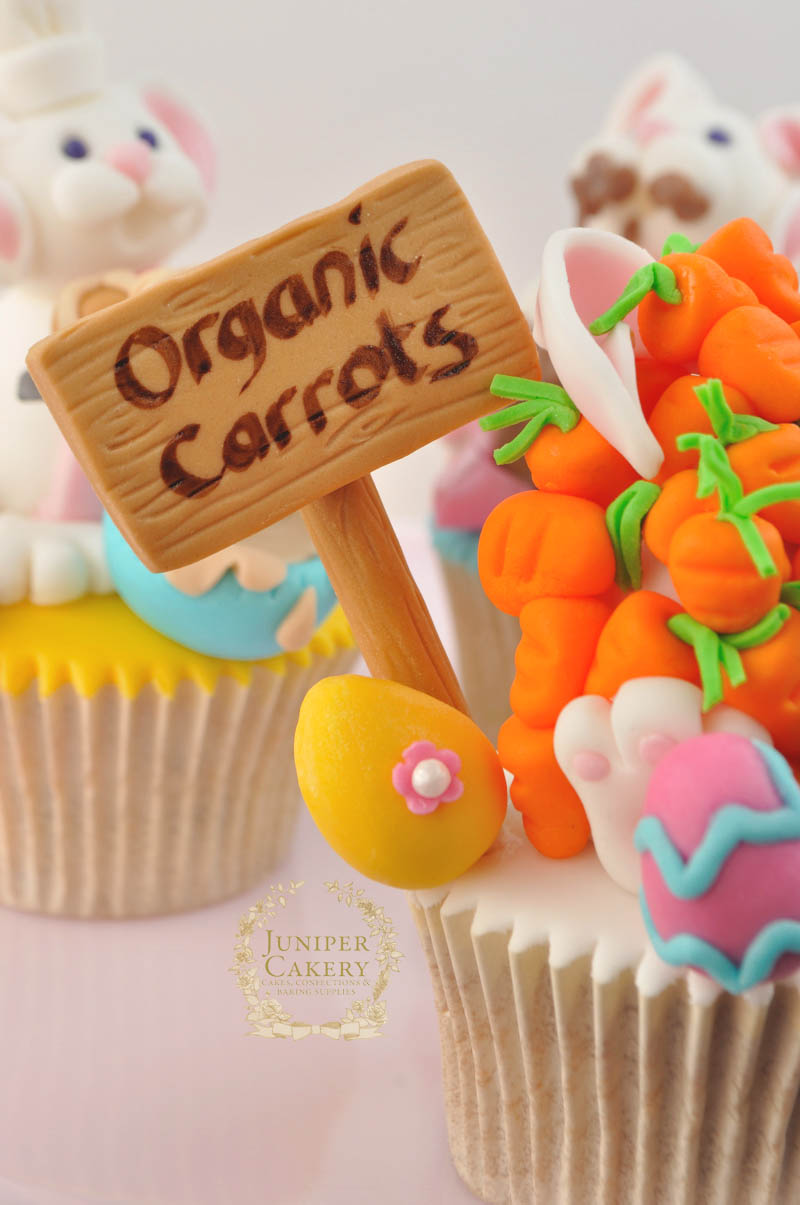 Cute Easter Bunny Cupcake Toppers by Juniper Cakery
