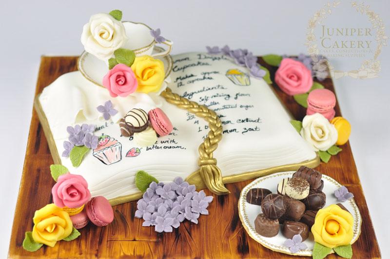 Tea Macarons Recipe Book Birthday Cake