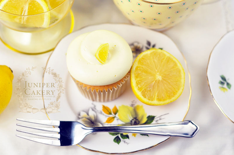 Lemon cupcake recipe perfect for summer by Juniper Cakery