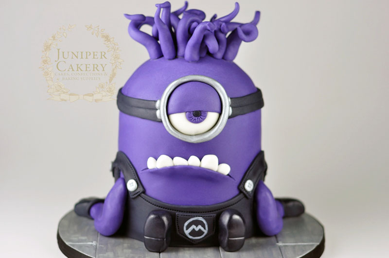 Outstanding Evil Purple Minion Cake Funny Birthday Cards Online Inifofree Goldxyz
