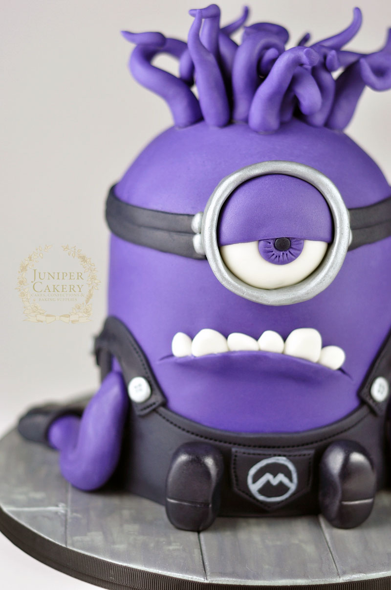 Amazing Evil Purple Minion Cake Funny Birthday Cards Online Eattedamsfinfo