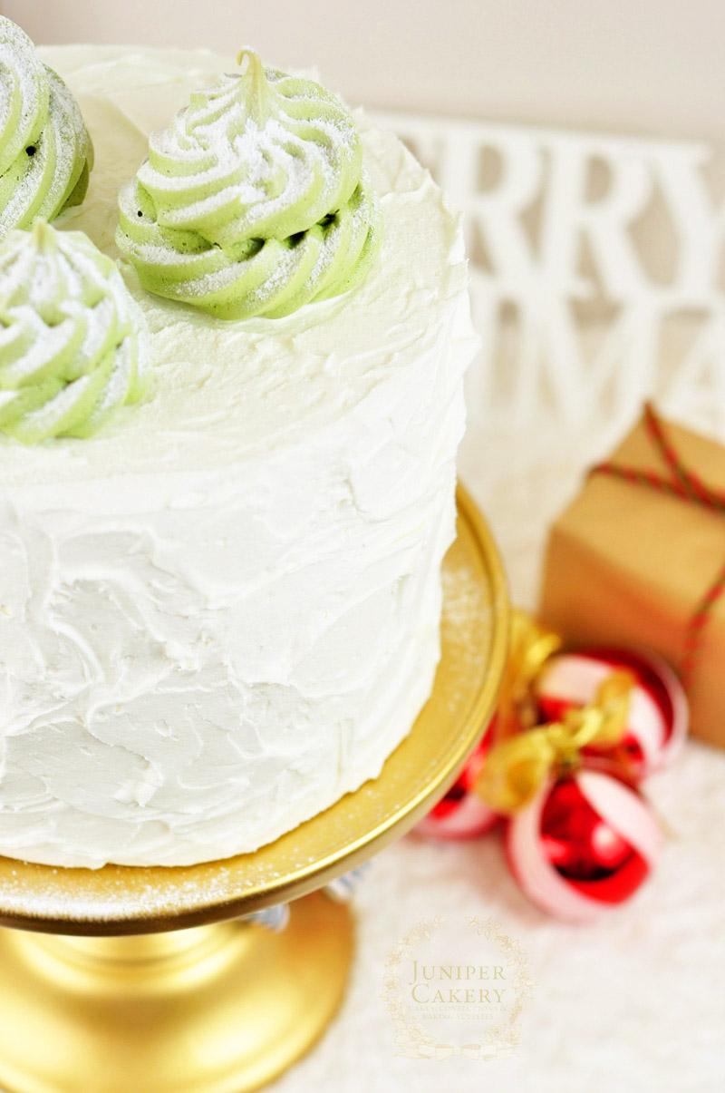 Recipe for meringue Christmas tree cake toppers