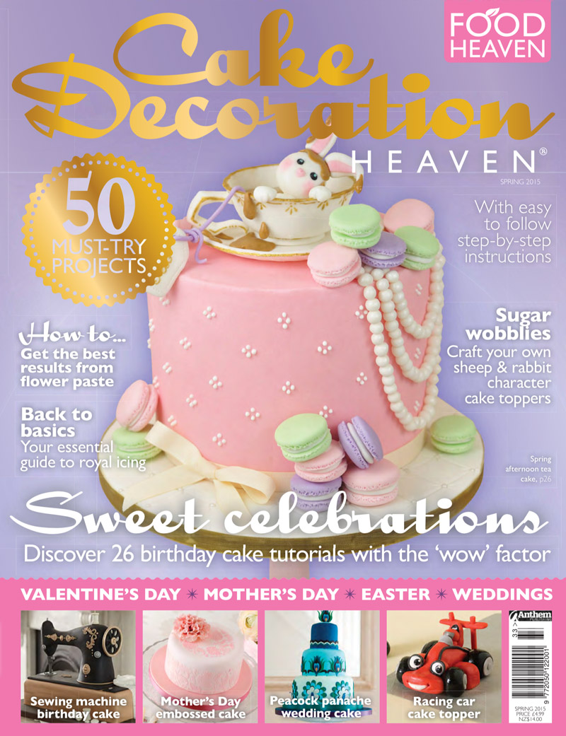 Afternoon Tea Bunny Cake by Juniper Cakery on Cake Decoration Heaven Magazine Spring 2015