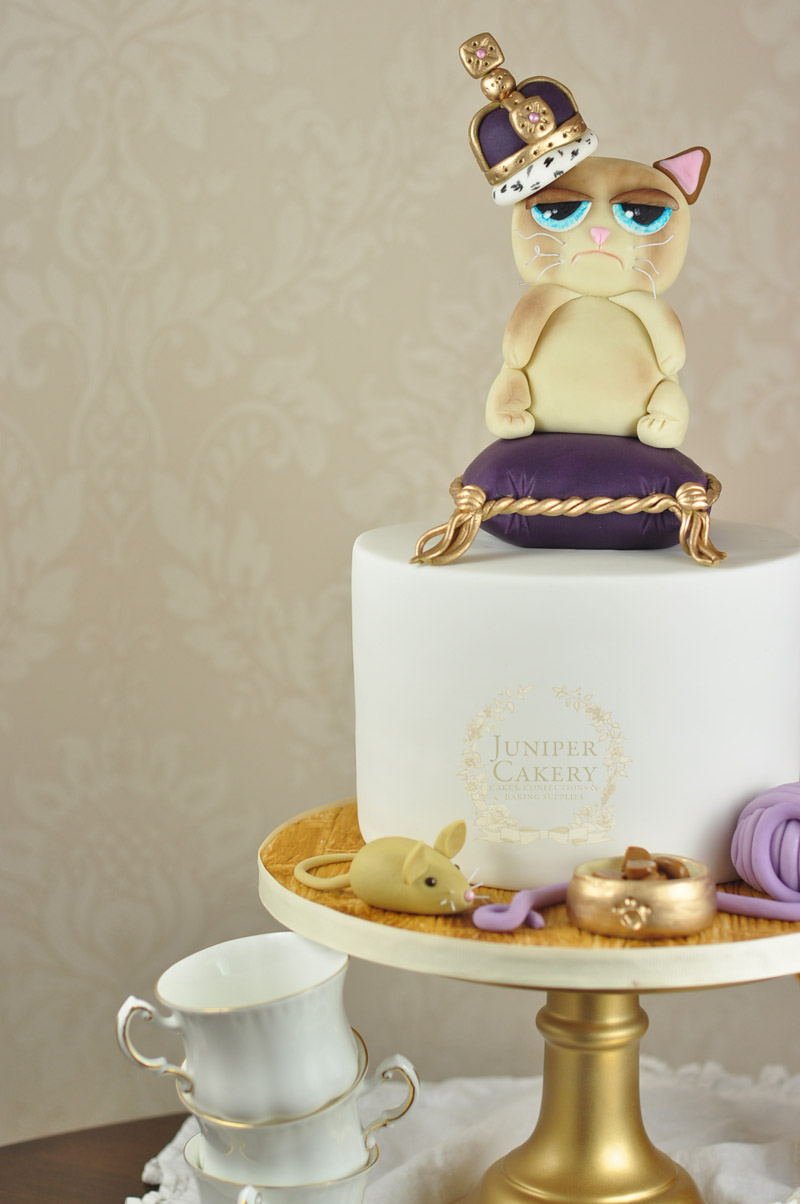 Queen Grumpy Cat Cake Juniper Cakery Bespoke Cakes in Yorkshire