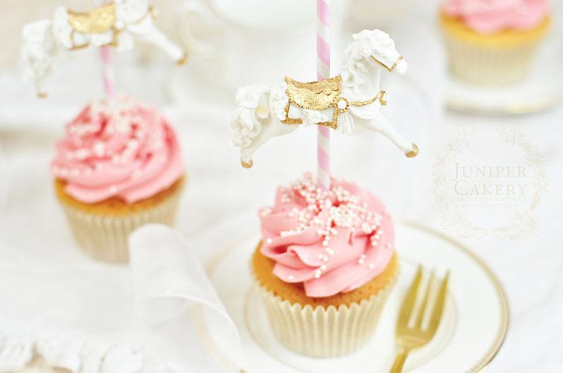 Strawberry carousel cupcake by Juniper Cakery