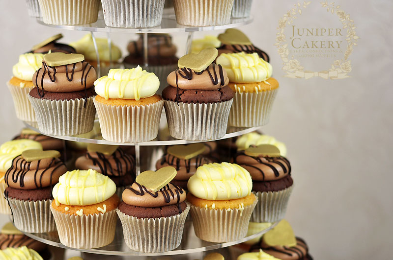 Chocolate and lemon cupcake tower by Juniper Cakery in Kingston-upon-Hull