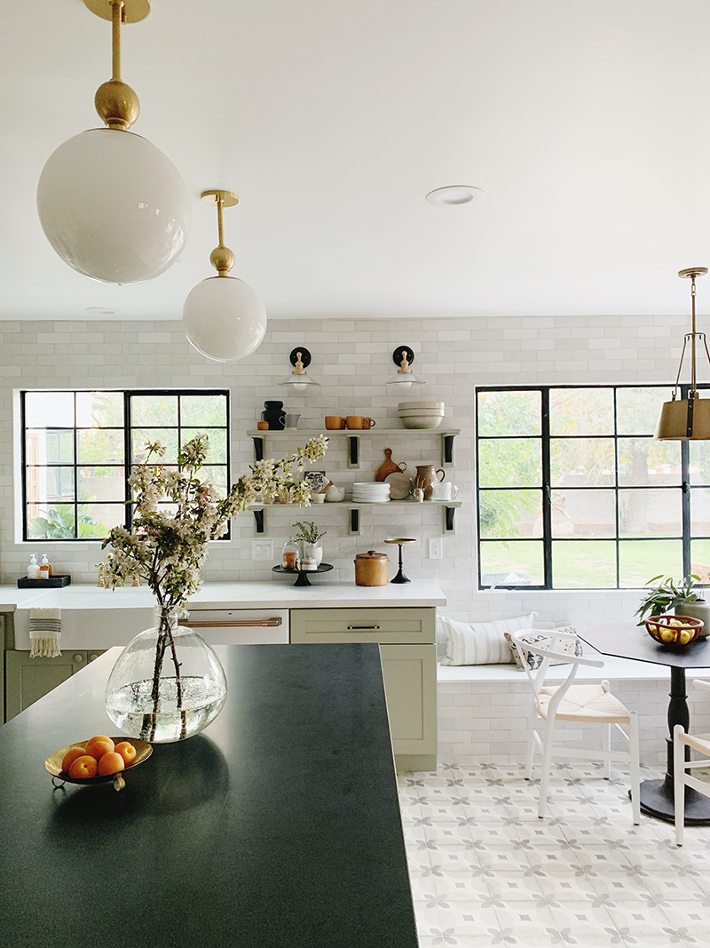 evergreen house kitchen reveal