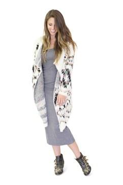 remi sweater and column dress
