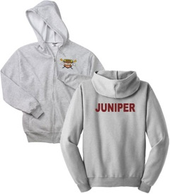 Zippered Hoodie - Gray - Crest ($40)