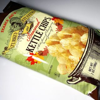 Trader Joe's Turkey & Stuffing Seasoned Kettle Chips