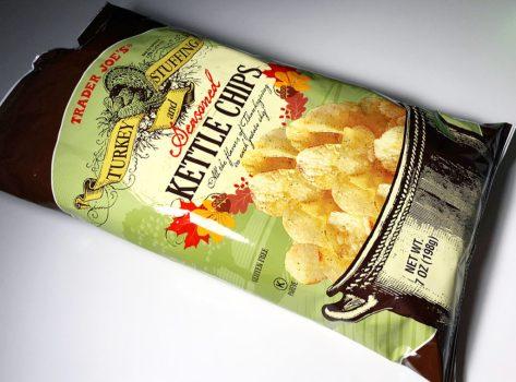 Trader Joe's Turkey & Stuffing Seasoned Kettle Chips