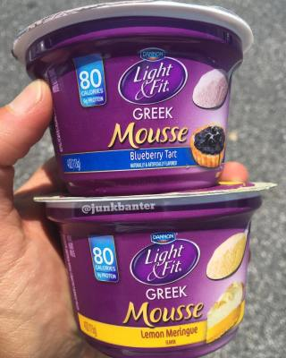 Dannon Light & Fit Greek Mousse (Blueberry Tart & Lemon Meringue)