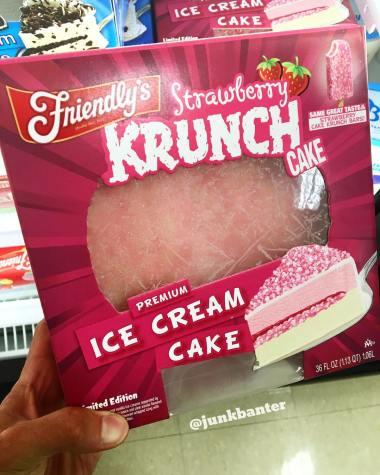 Friendly's Strawberry Krunch Cake