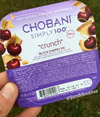 Chobani Simply 100 Crunch Black Cherry Pie