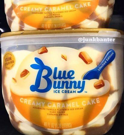 Blue Bunny Creamy Caramel Cake