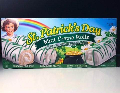 Little Debbie St. Patrick's Day Mint Creme Rolls