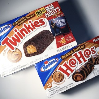 Hostess Chocolate Peanut Butter Twinkies and Peanut Butter HoHos
