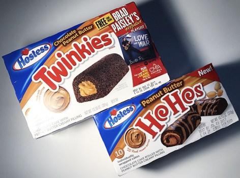 Hostess Chocolate Peanut Butter Twinkies and Peanut Butter HoHos