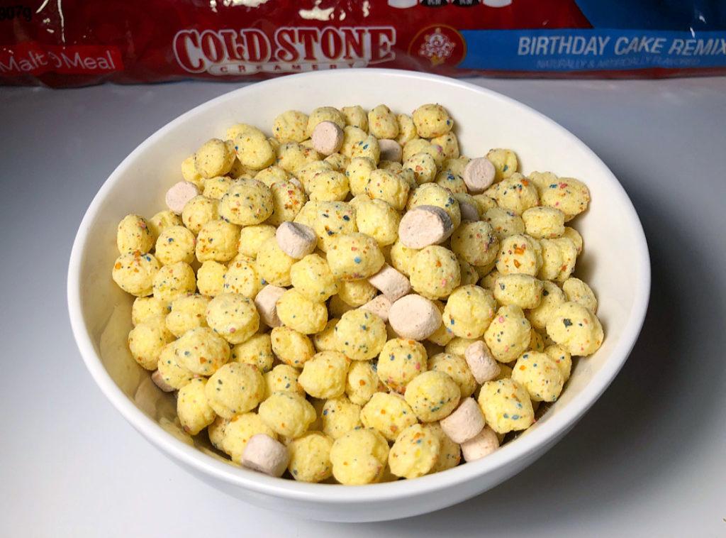Sensational Review Malt O Meal Cold Stone Creamery Birthday Cake Remix Cereal Funny Birthday Cards Online Alyptdamsfinfo