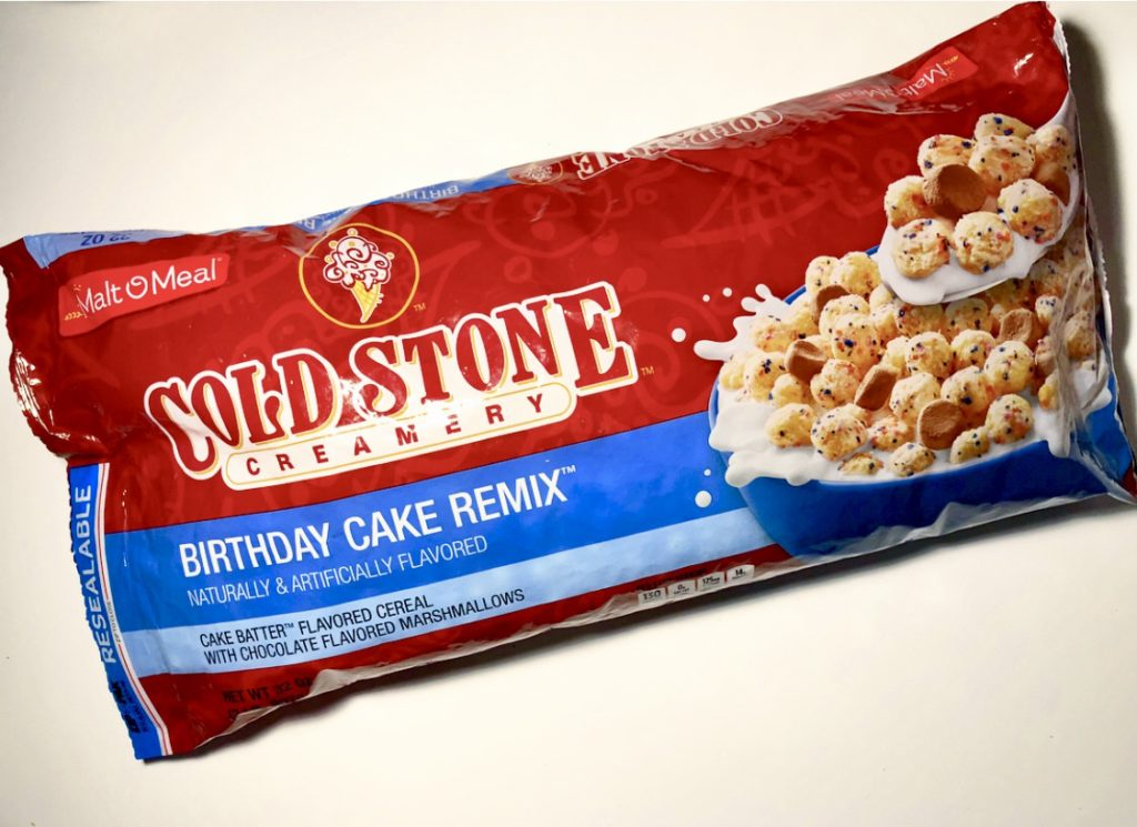 Peachy Review Malt O Meal Cold Stone Creamery Birthday Cake Remix Cereal Personalised Birthday Cards Rectzonderlifede