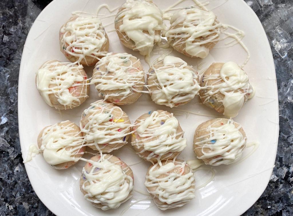 Fabulous Review Betty Crocker No Bake Cookie Dough Bites Birthday Cake Funny Birthday Cards Online Elaedamsfinfo