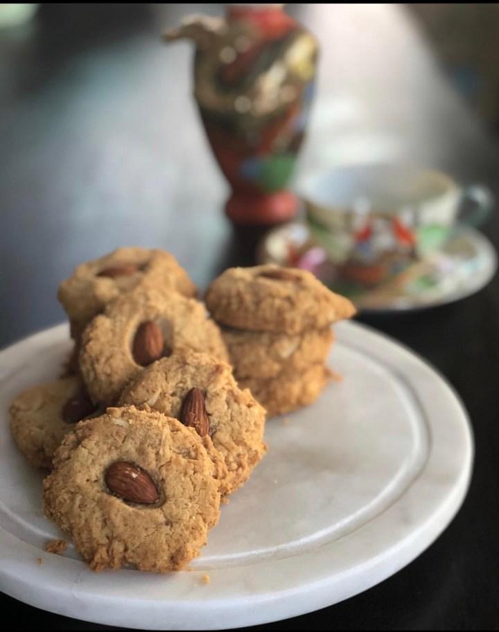 Cookies de amêndoa de coco