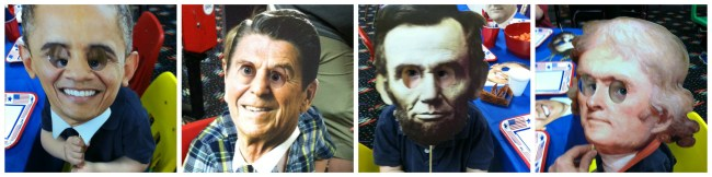 """The hysterical masks at Henry's """"Presidential Party"""""""