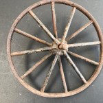 Mini Vintage Bicycle Wheel Rim Great As A Man Cave Decor Item Junk Mail