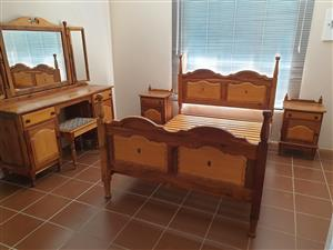 yellow wood furniture in bedroom