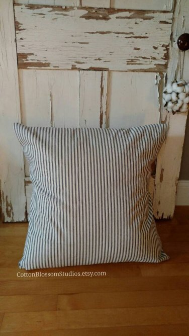 blue-ticking-pillow-cover