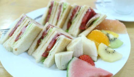 池下『弘法屋』果物屋のフルーツ山盛りサンドイッチのランチはコスパ最高!