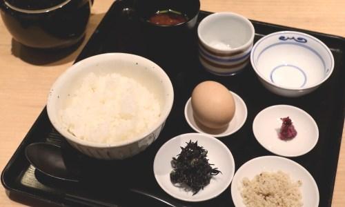 大名古屋ビル『鯛茶福乃』モーニングは名古屋コーチン卵ご飯!ご飯もみそ汁も食べ放題!