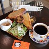 北区『パンダコーヒーロースターズ』こだわり豆屋の自家製パンのモーニング!