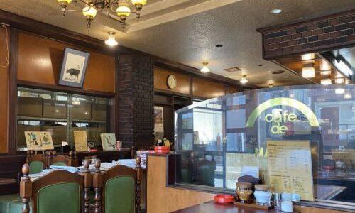 瑞穂区『カフェ ド 豆田』昭和レトロでシックな店、挽きたてコーヒーが楽しめるレトロ喫茶店
