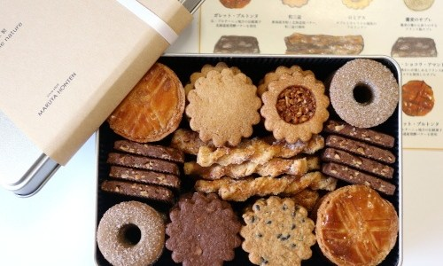 新潟・老舗和菓子屋『丸屋本店』クッキー缶、素材の良さを感じるシンプルで素朴な味わい