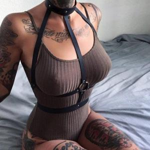 Leather Harness Bdsm Collar Bondage