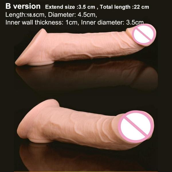 4MB Soft Silicone Penis Extender Reusable Condoms