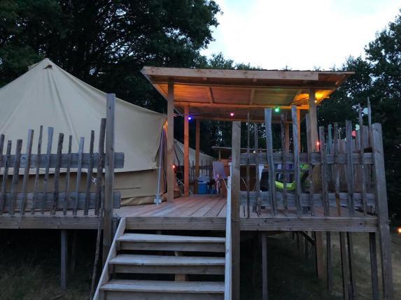 Foto Bell tent 6M met overkapping 3