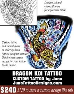 dragon koi tattoo, tattoo template, juno tattoo designs